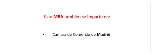 Precio Executive MBA en Sevilla