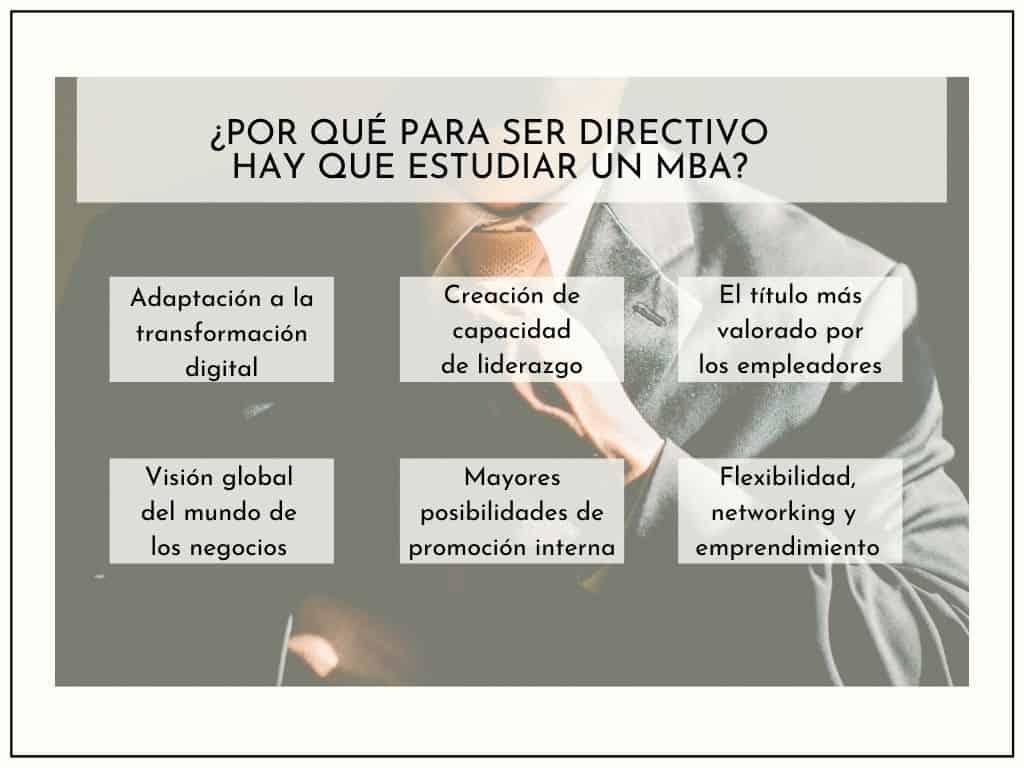 Por qué estudiar un MBA para ser Directivo